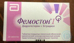 Какой фемостон употреблять в предменопаузу