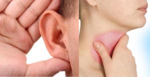 Боли в ухе при глотании и зеве
