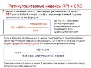 Индекс продукции ретикулоцитов