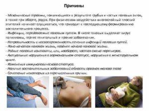 Механическое повреждение после полового акта