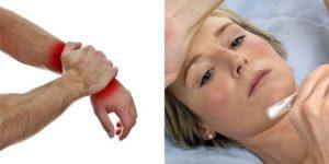 Боль при надавливании на кожу