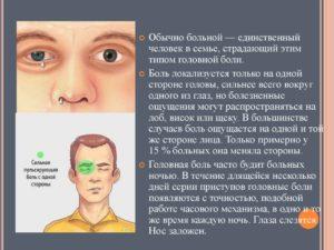 Болит пол головы, глаз плохо видит