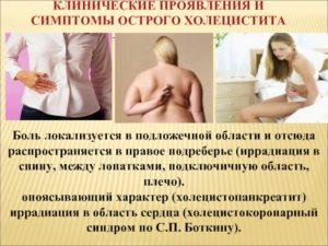 Боль в спине при жкб