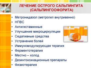 Лечение при сальпингите