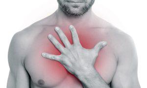Боли в грудной клетке жгучего давящая онемение груди температуры нет