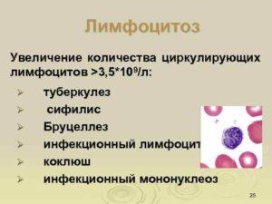 Лимфоцитоз, анемия новорожденного