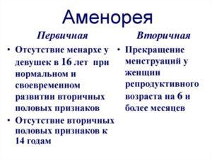 Первичная аменорея