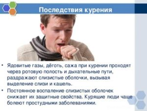 Кашель при отказе от курения
